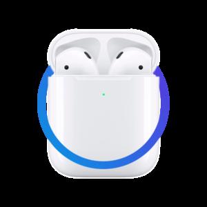 Наушники APPLE AirPods (ver2) в зарядном футляре